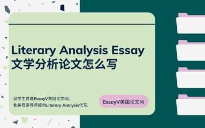 Literary Analysis Essay文学分析论文怎么写?